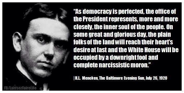 Image result for mencken perfect moron