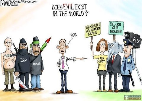 evil in the world cartoon