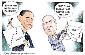 obama netanyahu cartoon