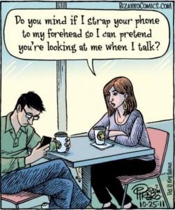 cell phone cartoon