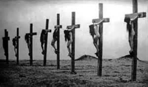 crucified christian girls