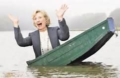 hillary sinking ship
