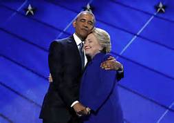 hillary and obama hugging