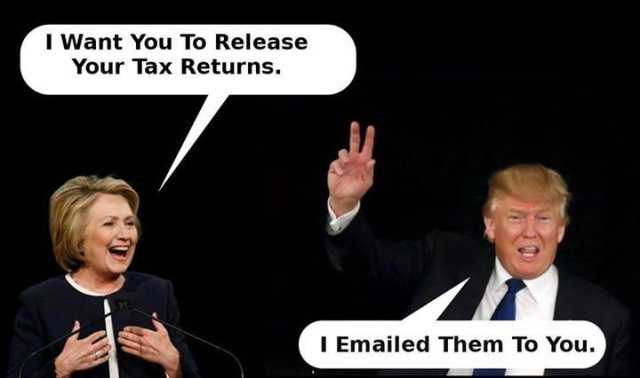 trump taxes and hillary emails